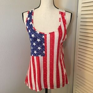 [rue21] American Flag Lace Sleeveless Top